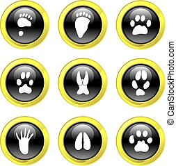 animal track icons