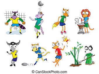 Set of animal vector cartoon