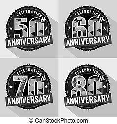 Set of Anniversary Celebration.