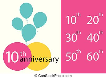 Set of Anniversary emblems, anniversary template design for web, game, creative poster, booklet, leaflet, flyer, magazine, invitation card