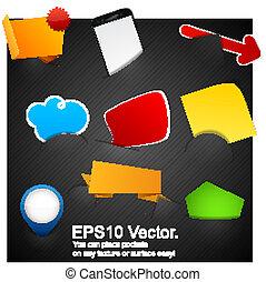 Set of announcement promotion symbols. - Vector illustration...