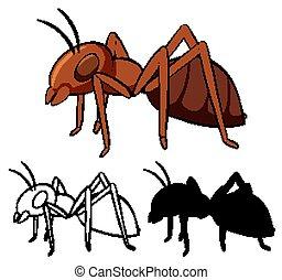 Set of ant cartoon
