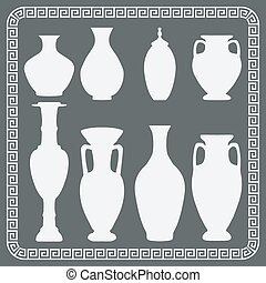 Set of antique vases