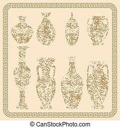 Set of antique vases vintage