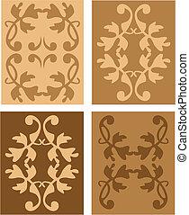 set of antique vector design elements