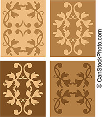 set of antique vector design elements