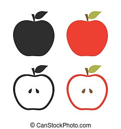 Set of apples icons