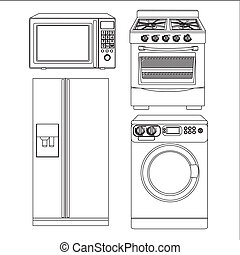 Set of appliances - Set of Appliances, contains washing...