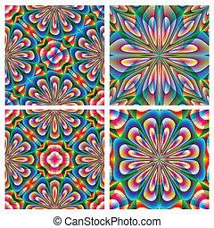 Set of arabesque vector pattern