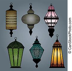 Set of arabic lantern part 1