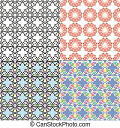 Arabic multicolor seamless patterns