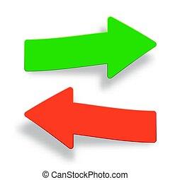 Set of arrow buttons. Vector illustration.