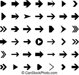 Set of arrow icons. - Vector illustration of right arrow ...