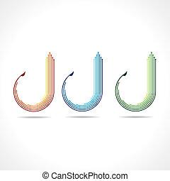 Set of arrow logo vector