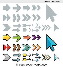 arrow pixel icons