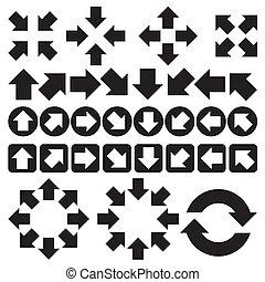 set of arrow vector - Arrow sign icon set.(black version)....