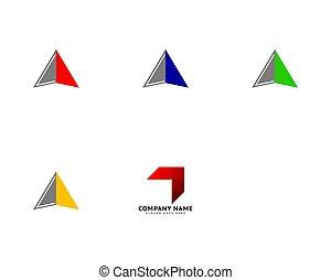 Set of Arrow vector illustration icon logo template