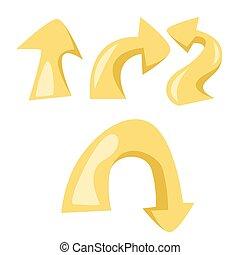set of arrow , vector illustration