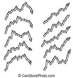 Set of arrows 3d illustration