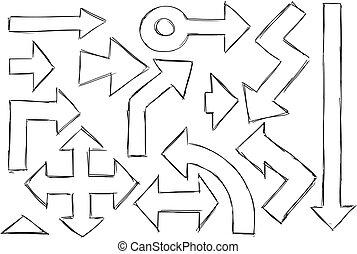 Set of Arrows Doodles