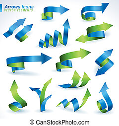 Set of arrows icons  - Set of vector arrows icons