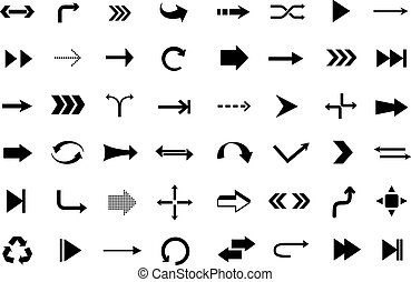 Set of arrows icons. Vector illustration.