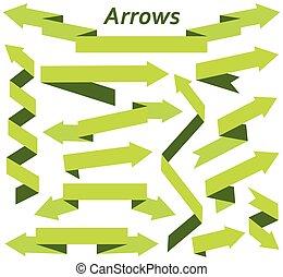 Set of arrows in modern flat style.