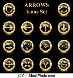 Set of arrows vector icons