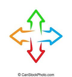 Set of arrows. Vector illustration.