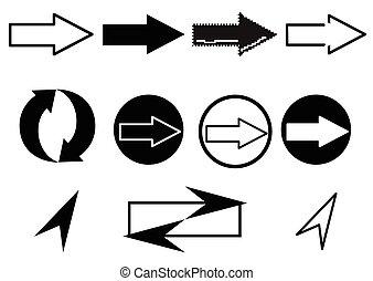 Set of arrows web icons