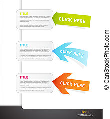 Set of arrows with labels for your own text.