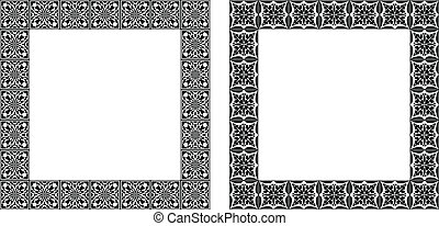 Set of art nouveau vector frames