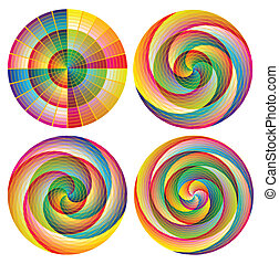 Set of artistic designed rosettes - Impressives rosettes:...