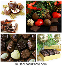 Set of assorted chocolate candy