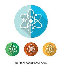 Set of atom icons. Vector illustration.
