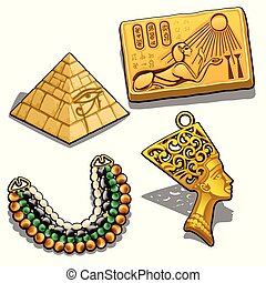Set of attributes and jewelry on the theme of ancient Egypt...