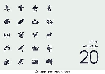 Set of Australia icons