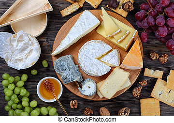 set of authentic french Cheese plate