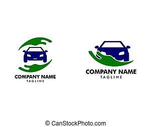 Set of Auto Car Care Logo Template