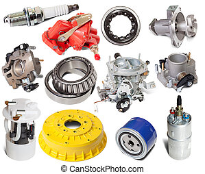 Set of auto parts. Isolated on white background