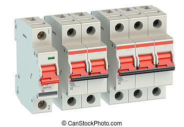 trip switch fuse box switches on position electricity power fuse rh canstockphoto com