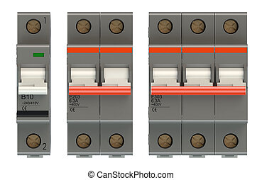 set of automatic electricity switches stock illustrations_csp30039358 trip switch fuse box switches \