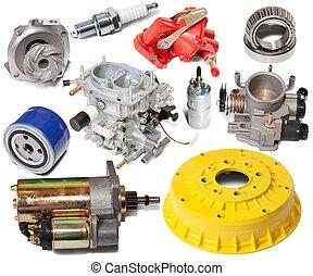 Set of automotive spare parts