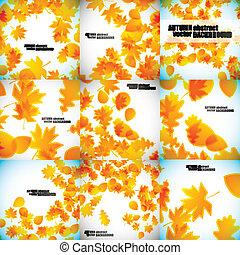 set of autumn backgrounds