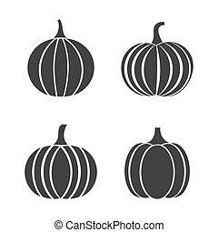 Set of autumn pumpkin icons