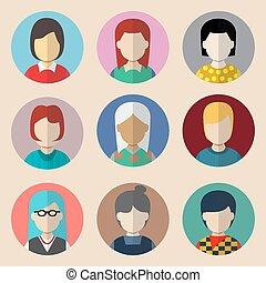 Set of avatars.