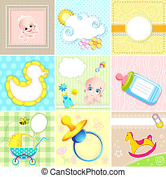 Set of Baby Arrival Card