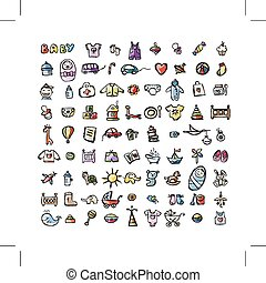 Set of baby icons for your design