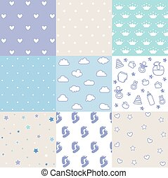 Set of baby patterns. Seamless pattern vector. Design elements.
