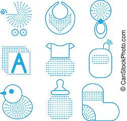 Set of baby's symbols